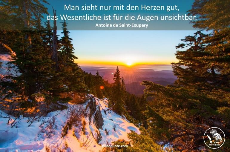 Saint Exupery Man Sieht Nur Mit Dem Herzen Gut Das